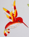 Fensterschmuck Eisvogel Tiffany orange